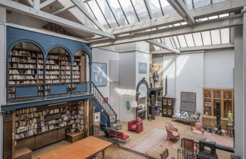 An antique lover's Parisian atelier is for sale