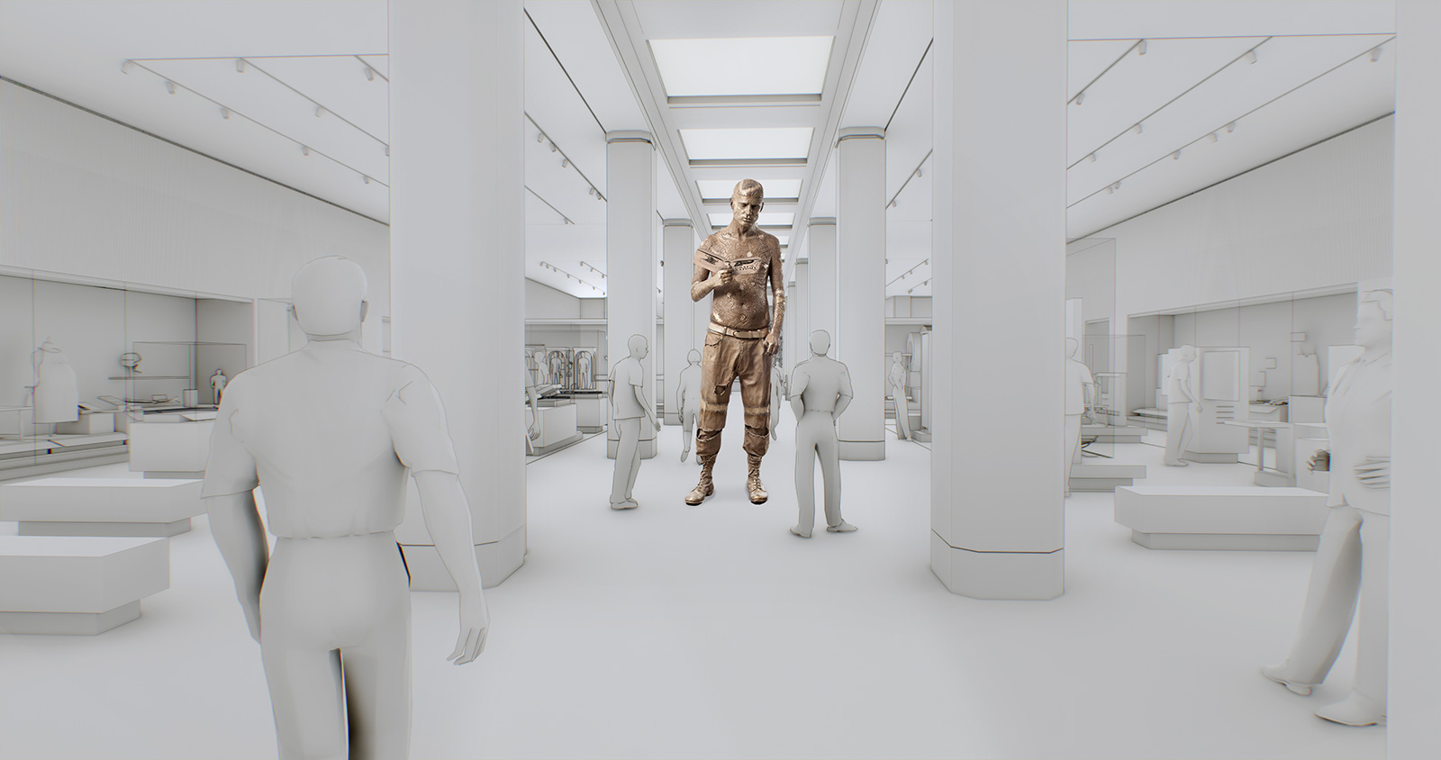 11 new museums opening in 2019: Artist's impression of Marc Quinn sculpture in the Science Museum. (c) WilkinsonEyre