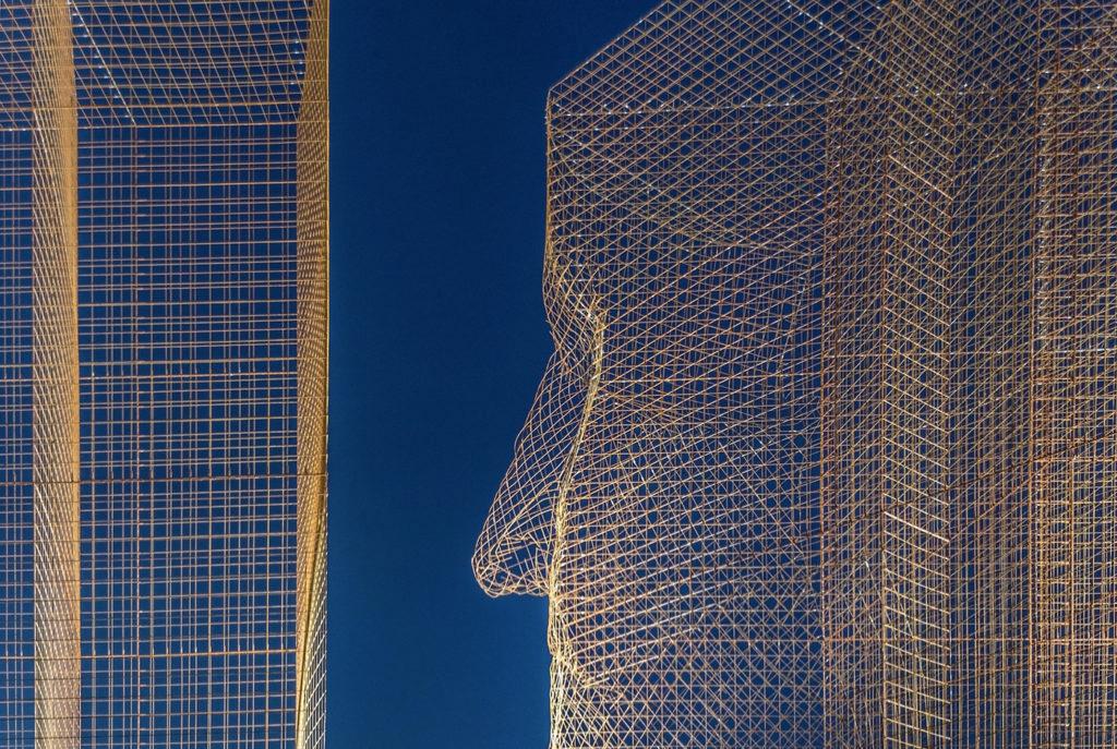 Giant faces watch over Barcelona in Edoardo Trisoldi's latest installation