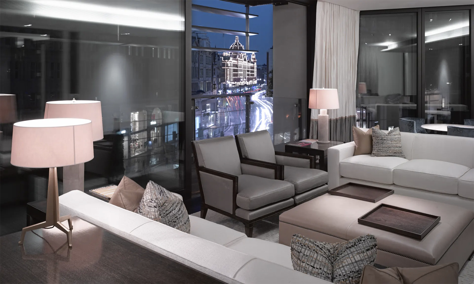 Interiors of a penthouse apartment in One Hyde Park. Photography: Alamy