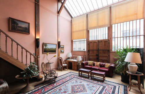 Pink-hued Parisian atelier hits the market for €2.15m