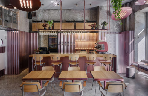 Moscow's Rare Pastrami Bar is all about the pink