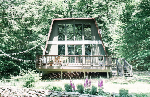 A woodland cabin in the heart of New York's Catskills