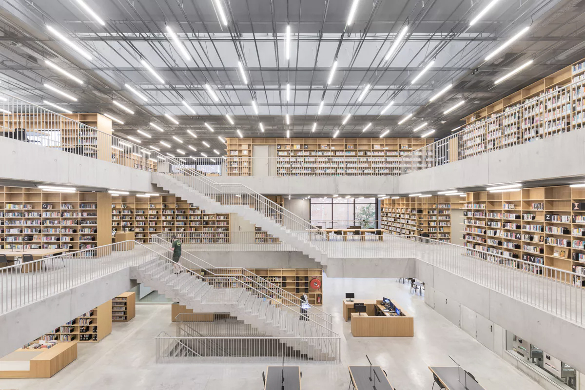 Adaptive reuse projects 2018: Utopia Library in Belgium
