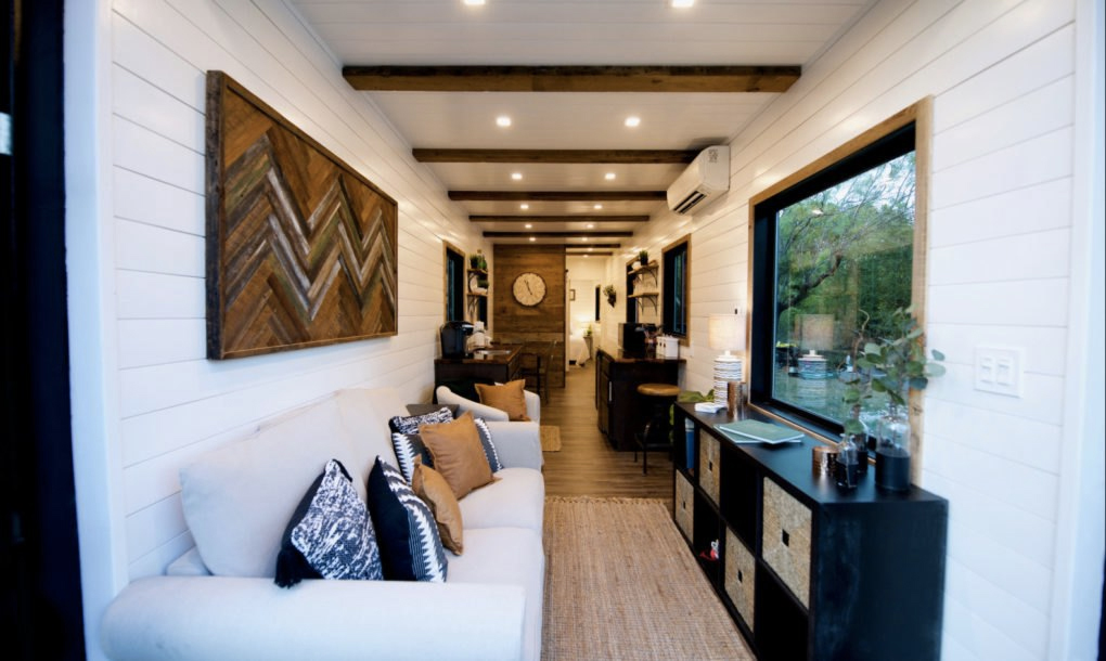 Texas Tiny Home Is Made From Two Shipping Containers The Spaces