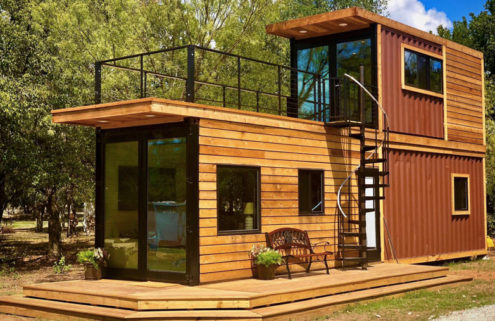Texas tiny home is made from two shipping containers