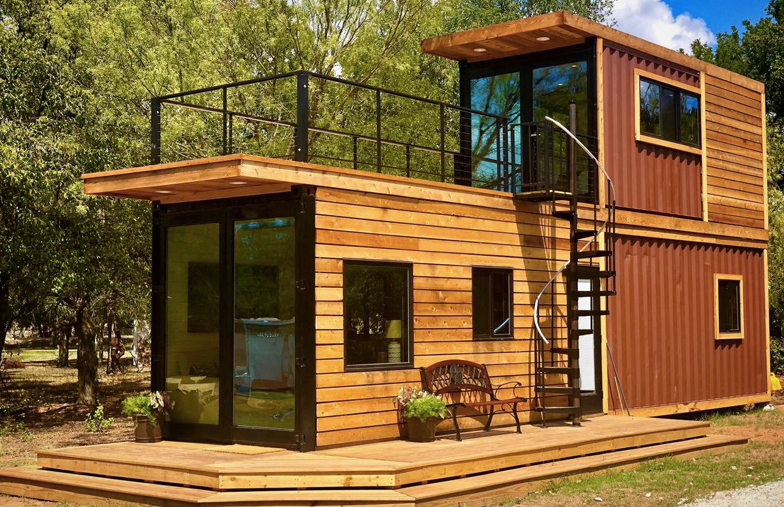 Texas Tiny Home Is Made From Two Shipping Containers The