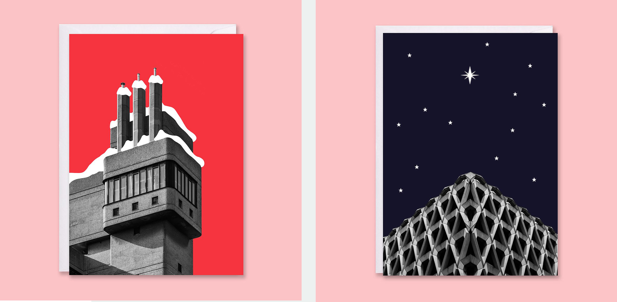 Brutalist Xmas cards by In from the snow
