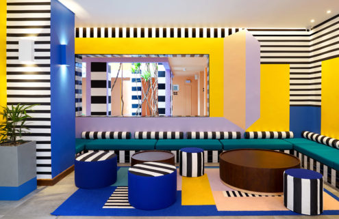 Camille Walala brings kaleidoscopic colour to Mauritius hotel SALT of Palmar