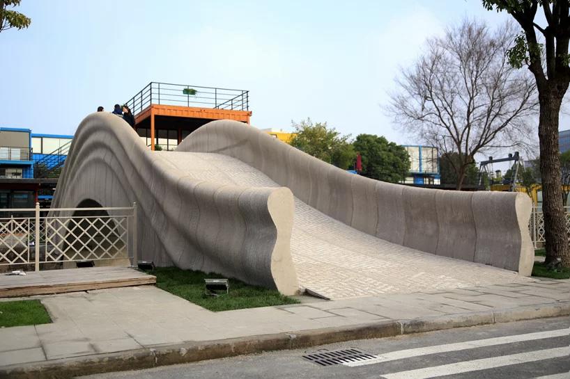 Concrete 3d printed Shanghai bridge
