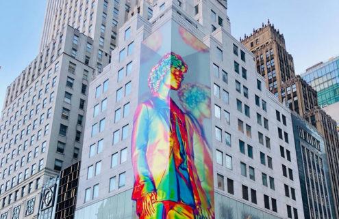 Virgil Abloh & Louis Vuitton unveil 12-storey-high artwork in NYC