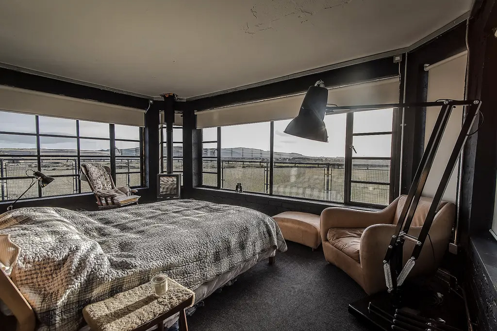 You can spend the night in this restored WWII Air Control Tower