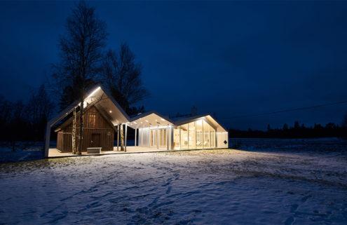 This zig-zag sauna cuts a sharp silhouette in Estonia