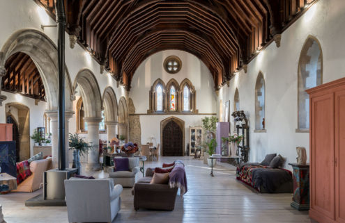 Go inside a dramatic Gothic church conversion in the UK's Kent