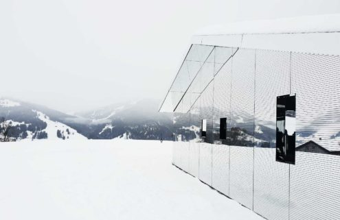 Doug Aitken installs a mirrored cabin in the Swiss mountains for Elevation 1049