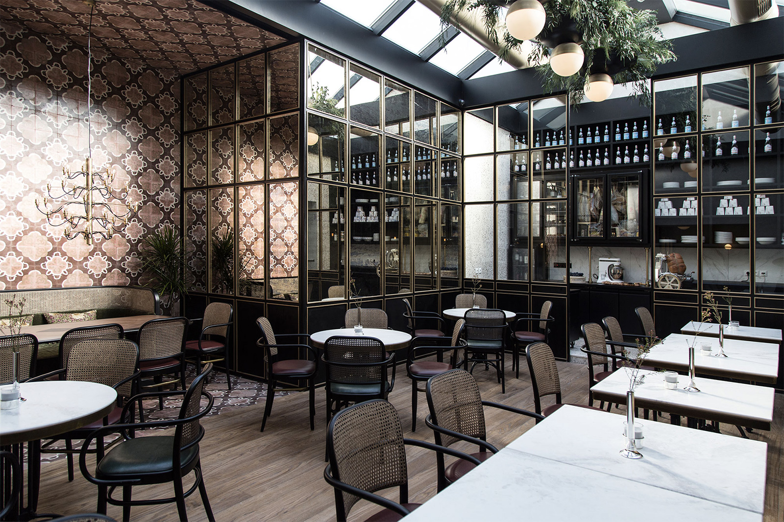 Minos Kosmidis designed the interiors for new Athens bar and restaurant Papillon