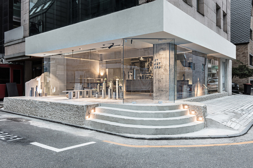 Seoul's Etcetera Cafe has concrete interiors