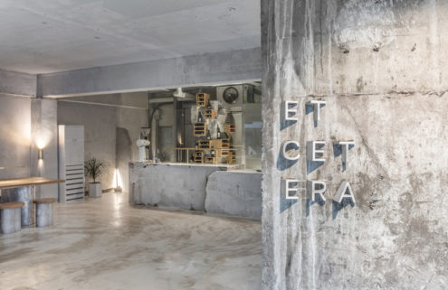 A brutalist coffee shop has sprung up in Seoul