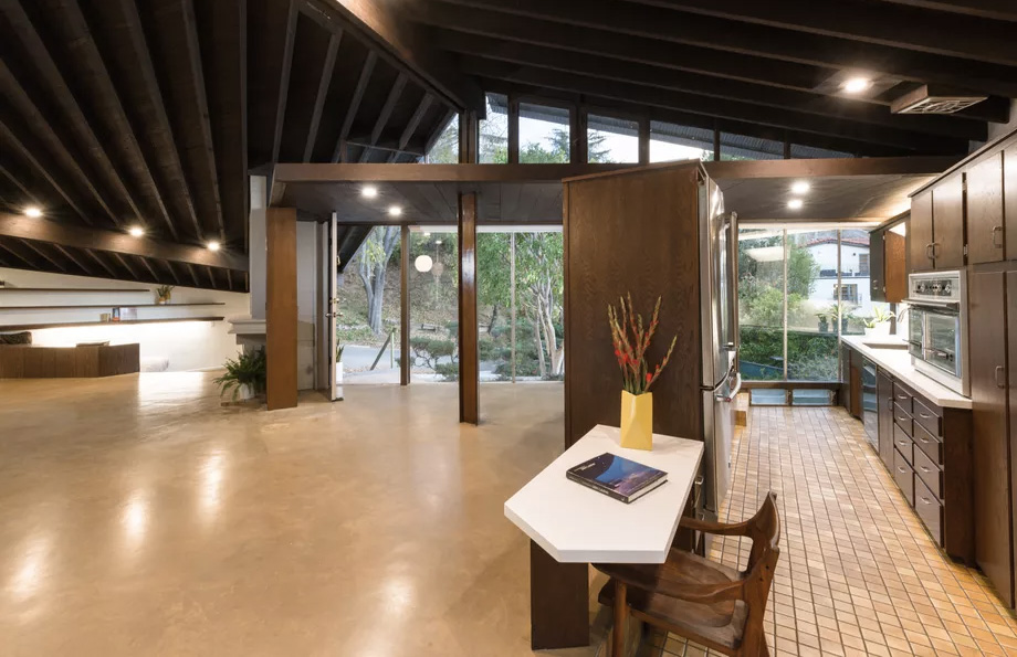 Inside the recently refurbished Williams House, for rent in LA via Compass