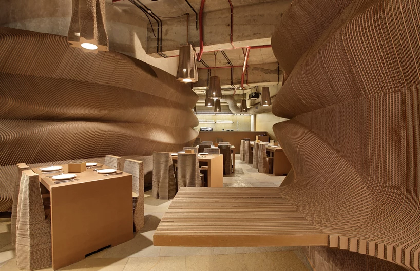 Mumbai cafe is made from recycled cardboard