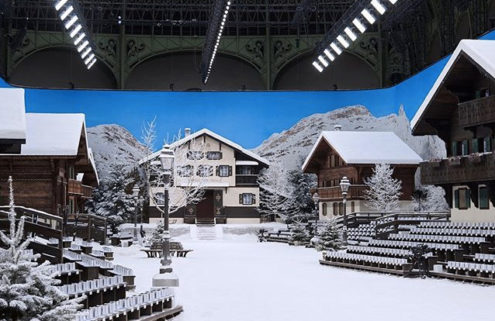 Chanel created a life-sized snowy village for its AW19 show