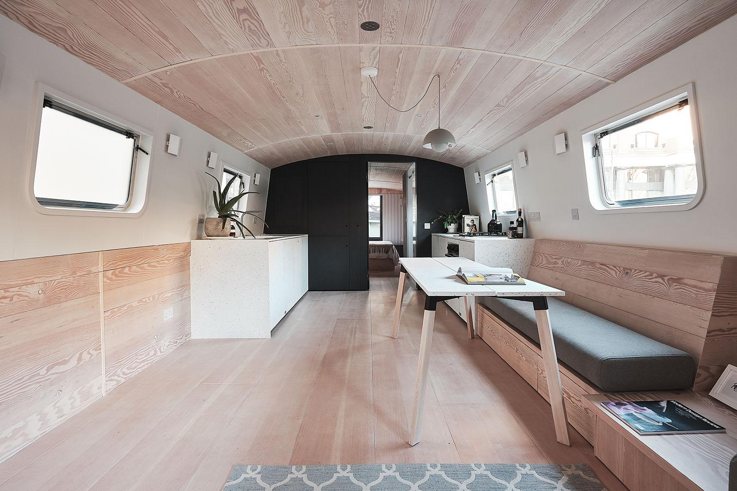 Dusky Parakeet minimalist barge for sale in East London