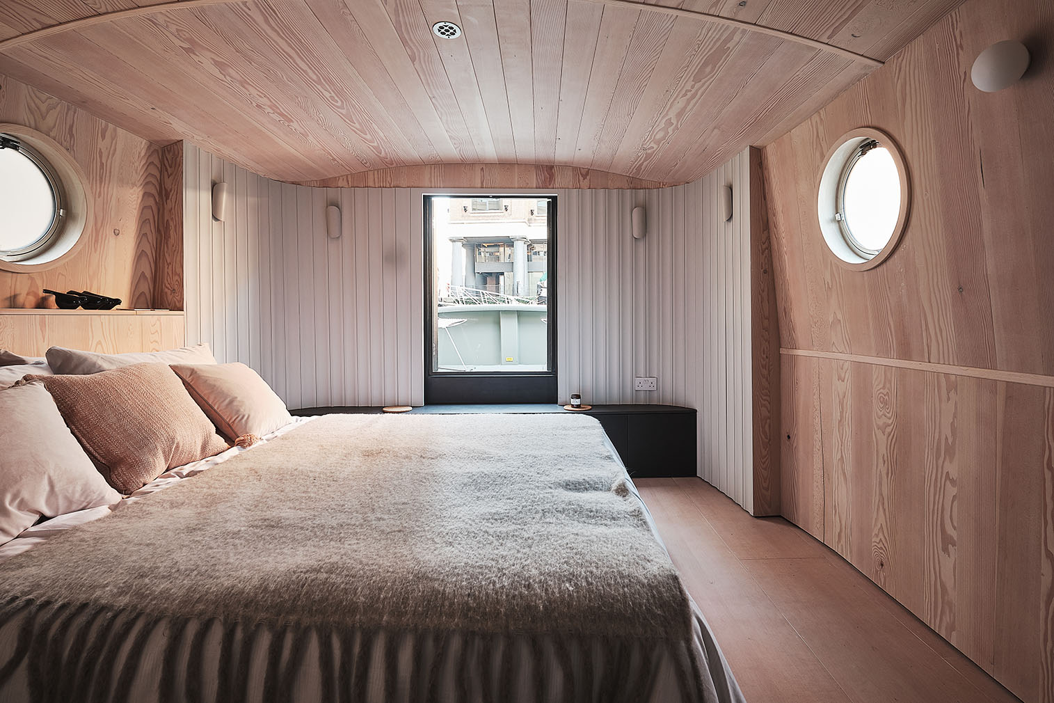 The Dusky Parakeet house boat designed by 31/44 Architects. It's for sale via Aucoot