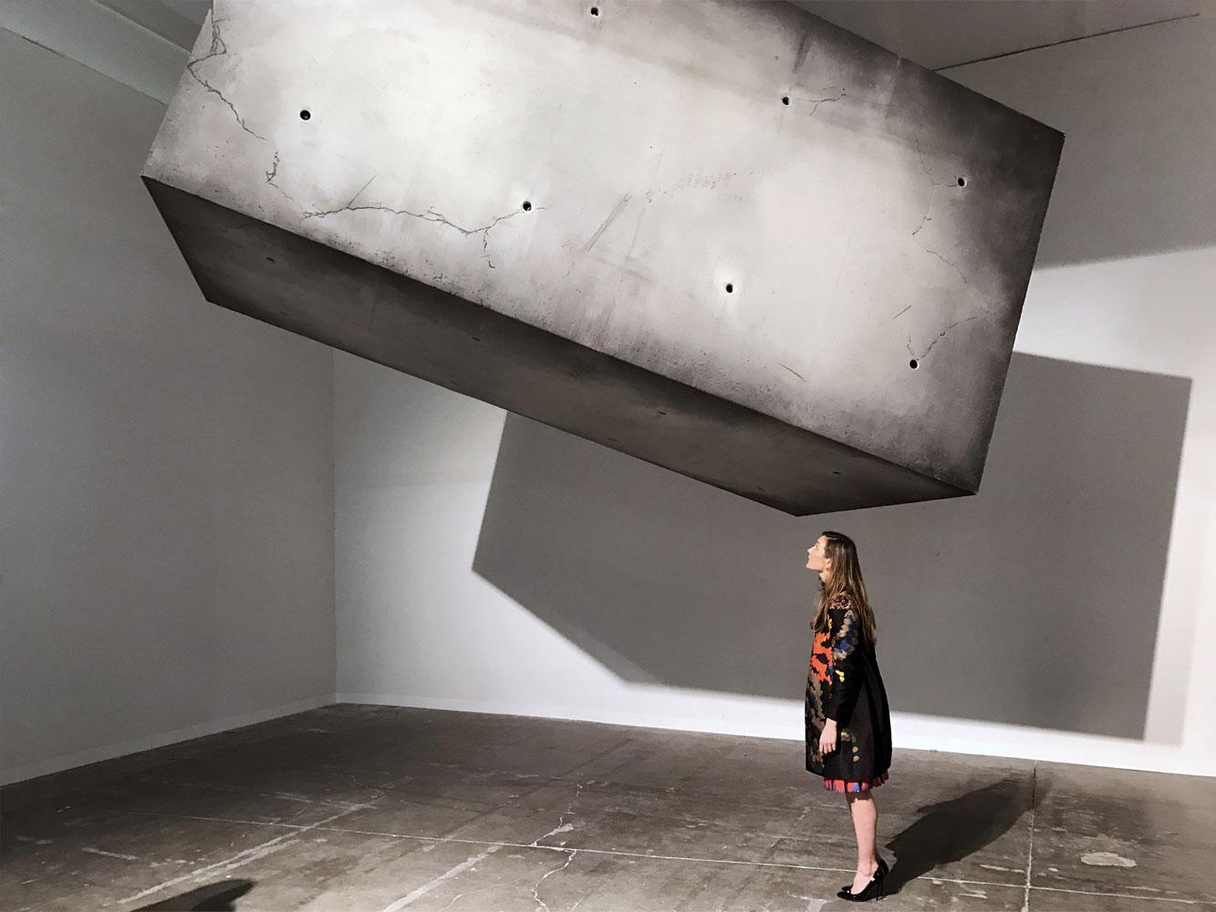 A huge floating monolith has appeared in Helsinki's Amos Rex museum