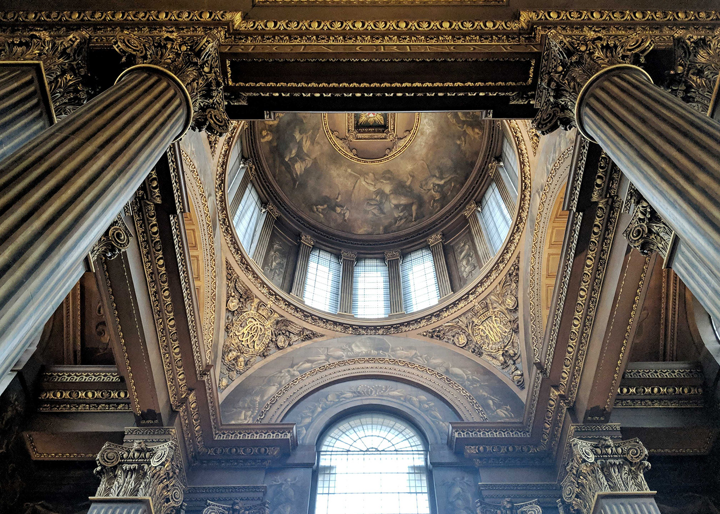 The freshly restored Painted Hall at the Old Royal Naval College
