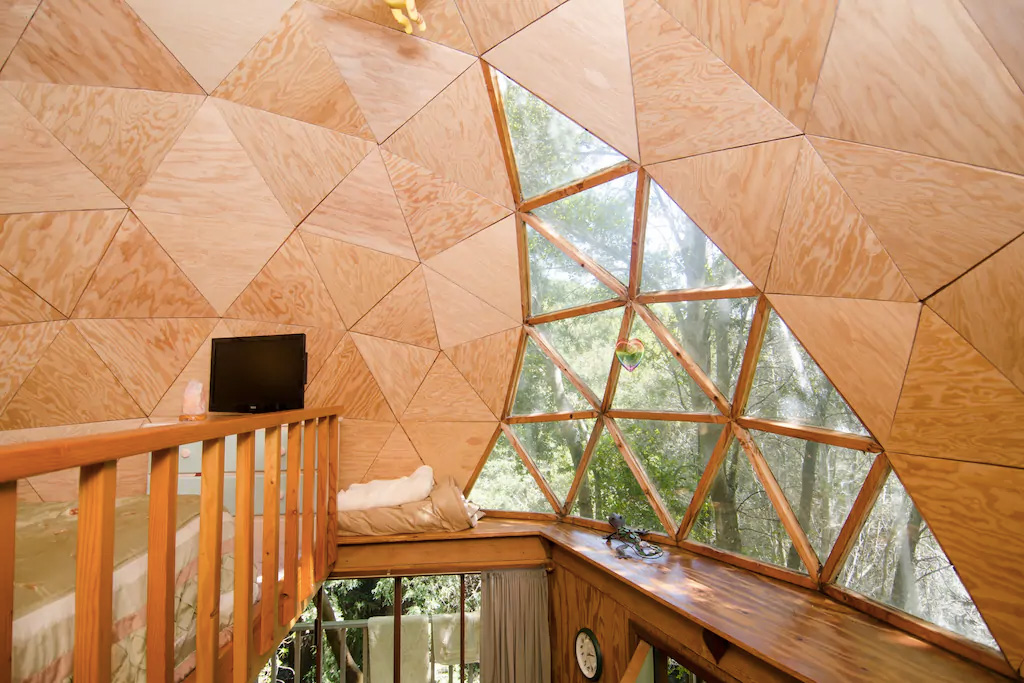 Mushroom dome cabin for rent on Airbnb