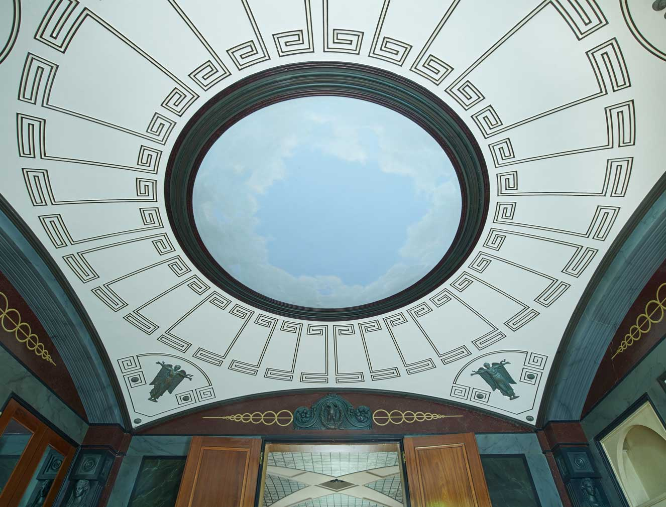 London's Pitzhanger Manor - a close up of the ceiling inside one of Soane's drawing rooms