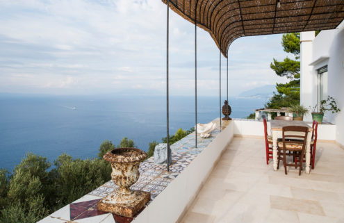 A clifftop villa with sea views hits the market on the island of Capri