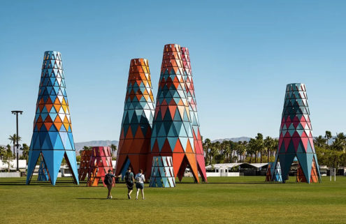 Francis Kéré builds shelters inspired by baobab trees at Coachella
