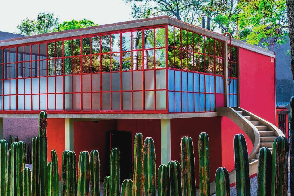 Frida Kahlo and Diego Riviera's house in Mexico city