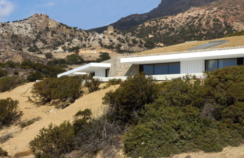This subterranean Greek home is embedded in a clifftop