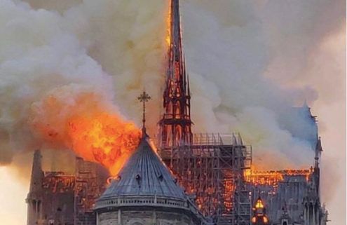 Notre Dame Cathedral is ablaze