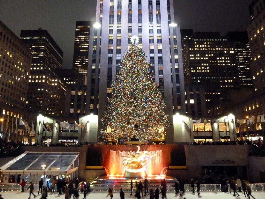 Rockefeller Plaza at Xmas