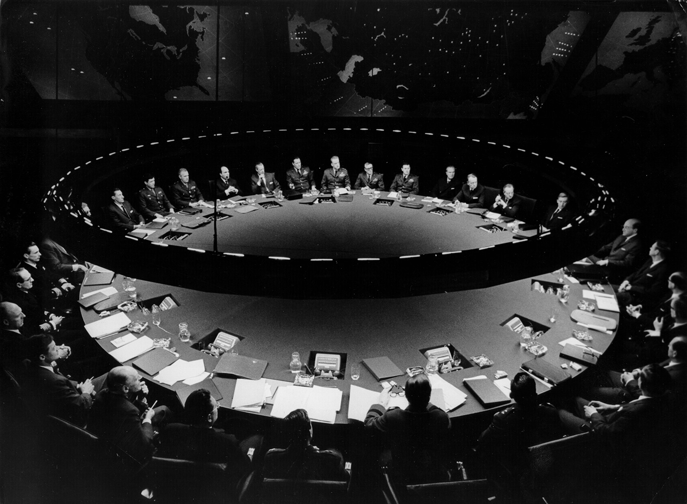 The War Room set fro Dr Strangelove (c) The Stanley Kubrick Archive
