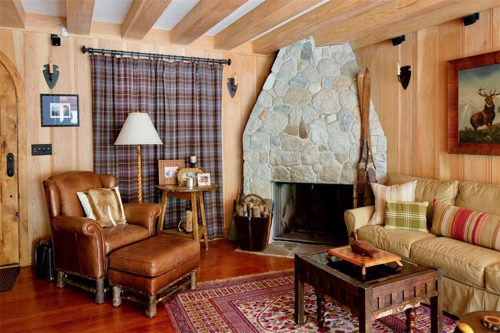 This cabin in the woods has serious Wes Anderson vibes