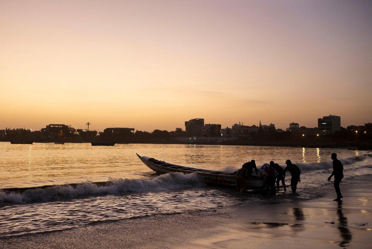 Sunset over Dakar