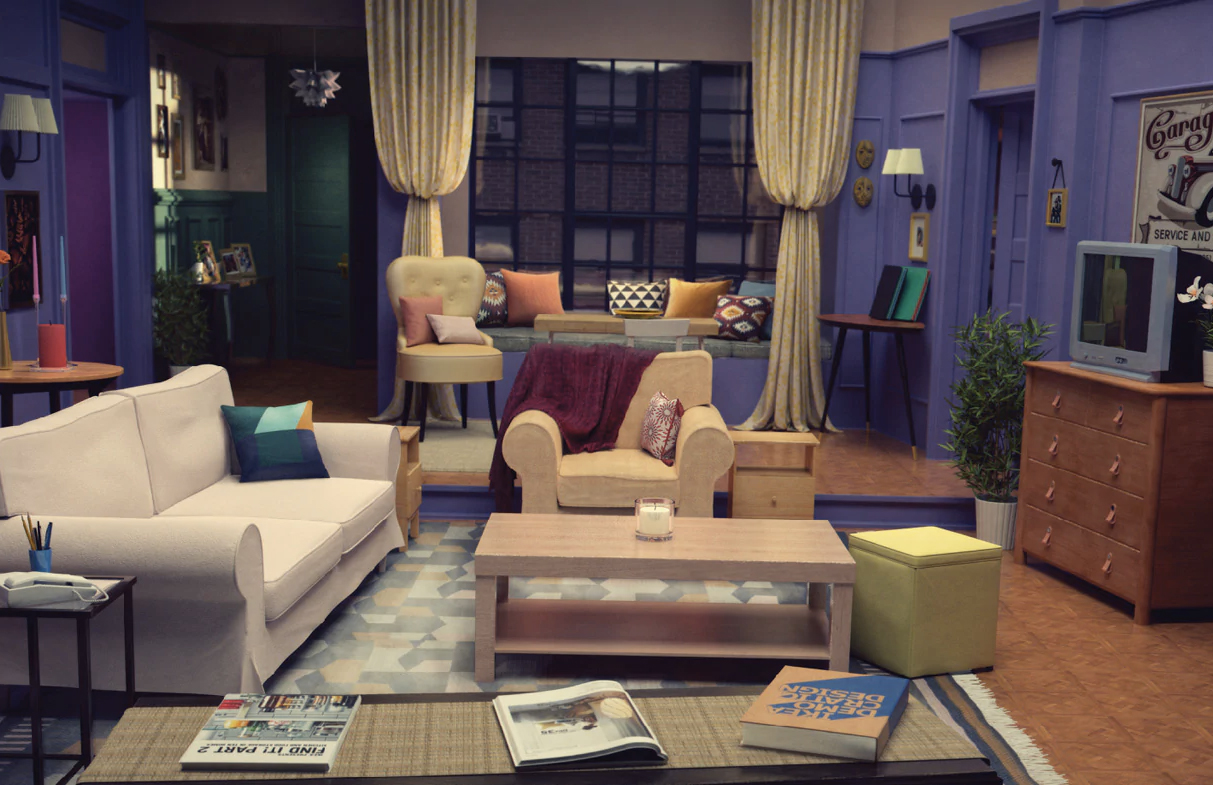 Room for mates recreates Monica and Rachel's apartment from Friends. Courtesy of IKEA
