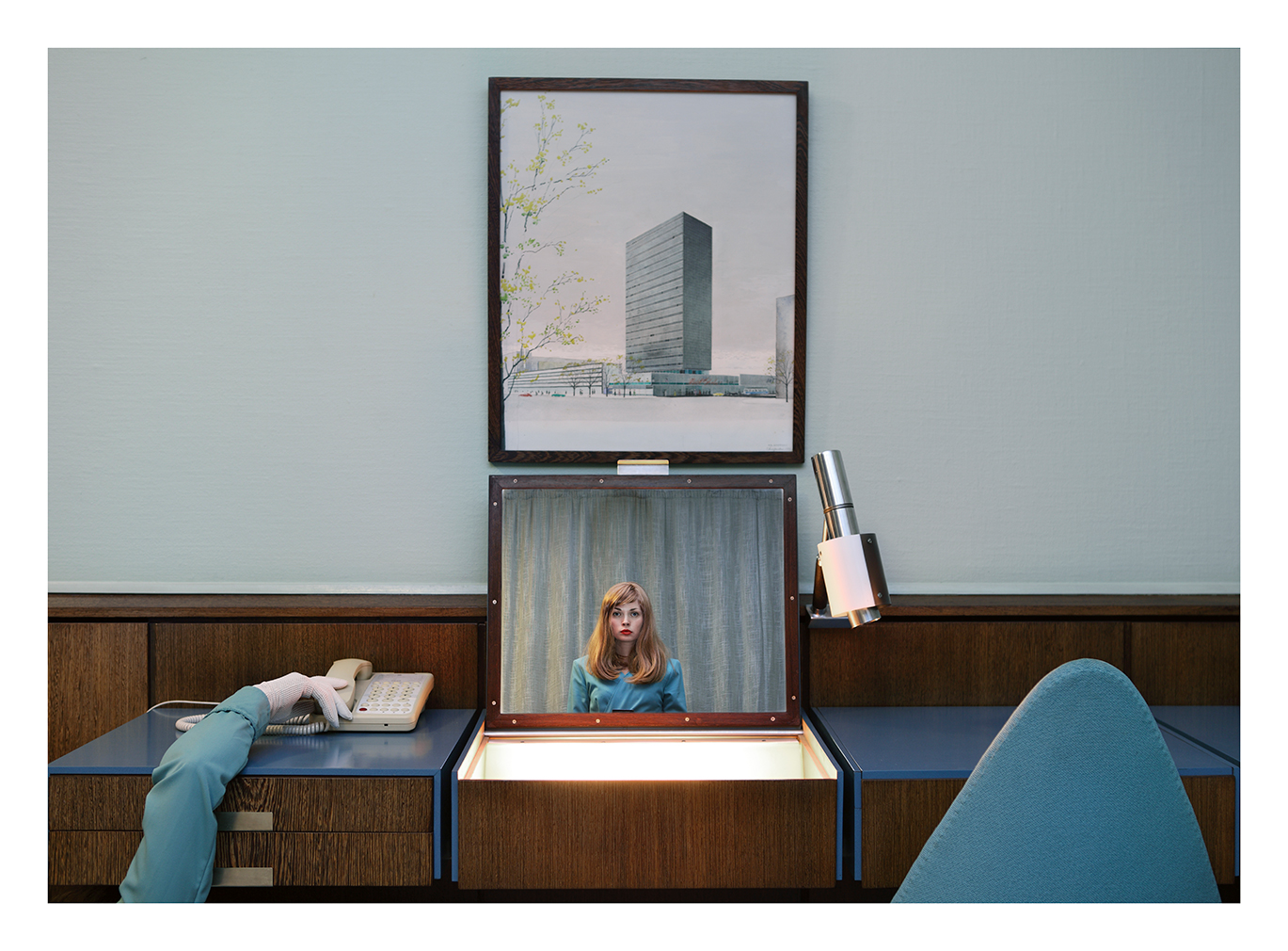 'The Receptionist'. 'The Starlet'. Photography: Anja Niemi (c) 2019