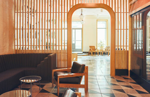 New York's Sister City hotel has bedrooms inspired by Finnish saunas