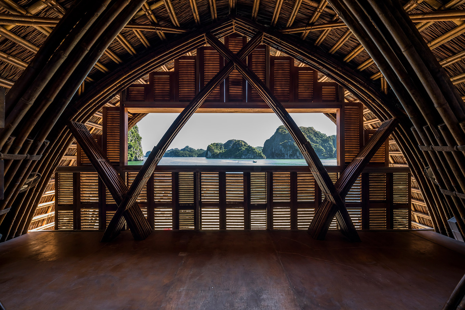 Vietnam's Castaway Island Resort is built from bamboo