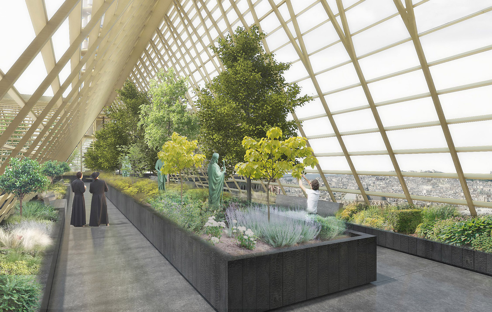 Could Notre-Dame's roof be rebuilt as a giant greenhouse? Inside the proposed structure.