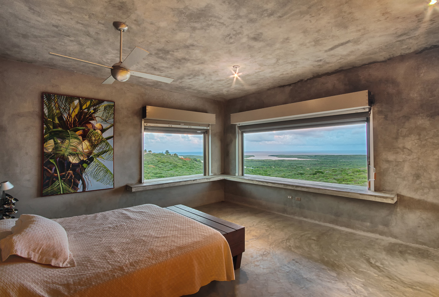 This brutalist eco-home is for sale on Puerto Rico's Vieques Island