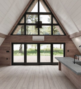 Those dreaming of rustic living can get the ball rolling with this 'cabin in a box' Afraym kit by Everywhere Inc