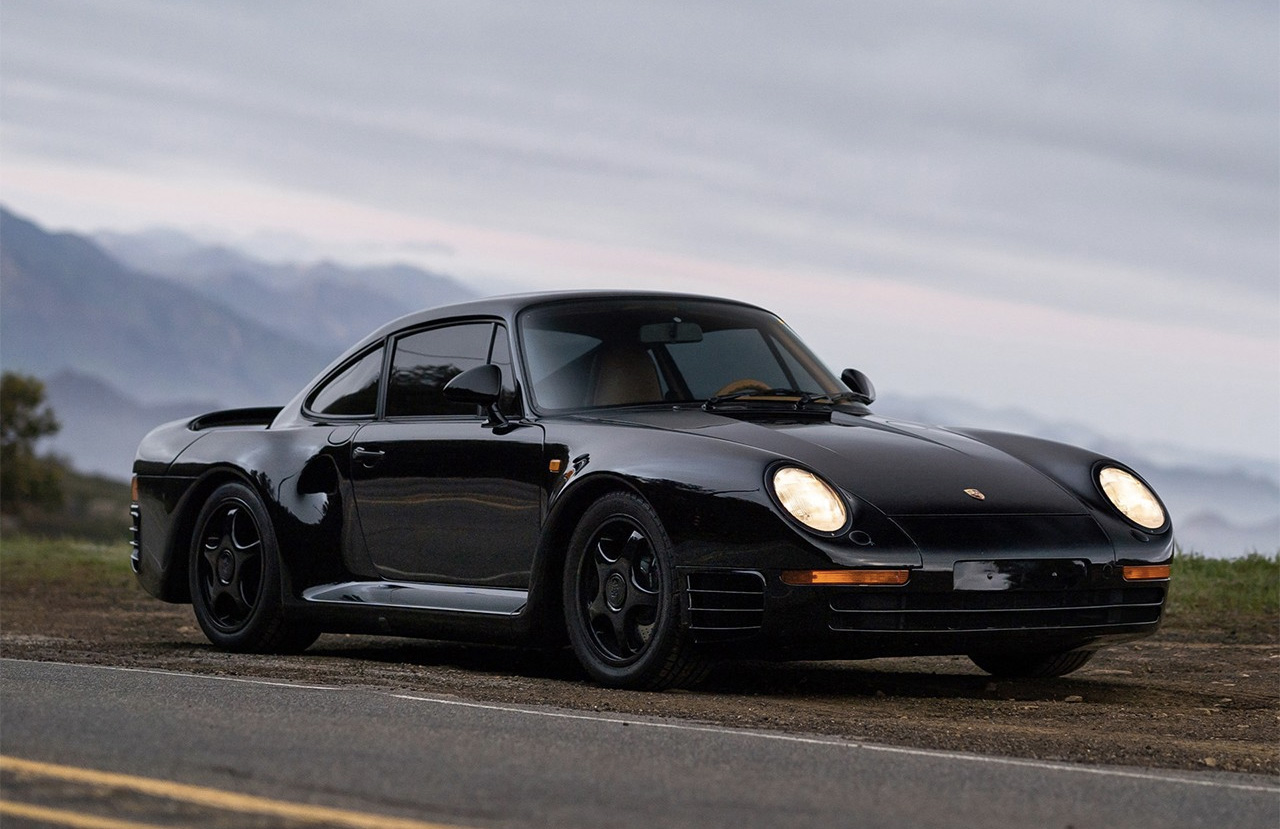 Porsche 959 For Sale >> A Rare Black Porsche 959 Komfort Is For Sale The Spaces