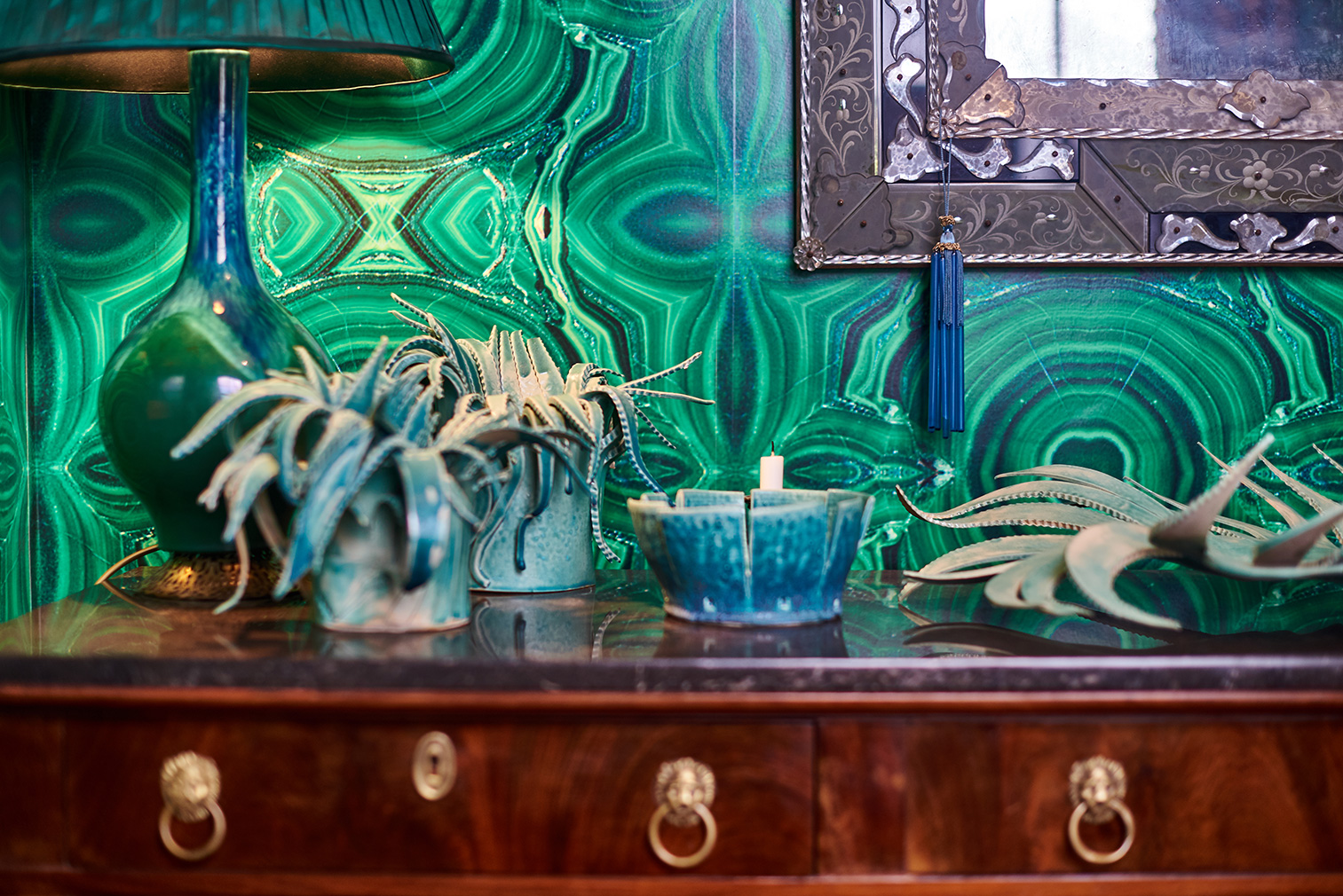 The green room at Kate Braine's Cheyne Row townhouse