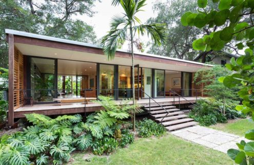 Tropical Modernist home by the Miami River lists for $1.9m